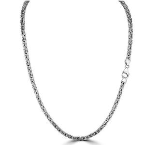 Mens Byzantine Rope Chain Real Solid Sterling 925